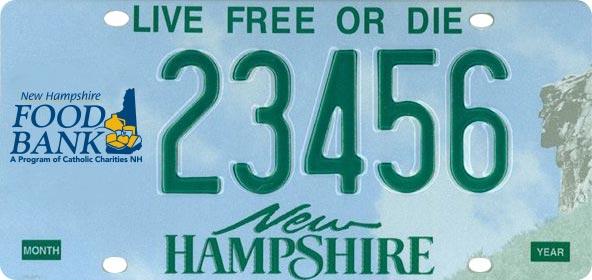 Demo NHFB decal license plate.